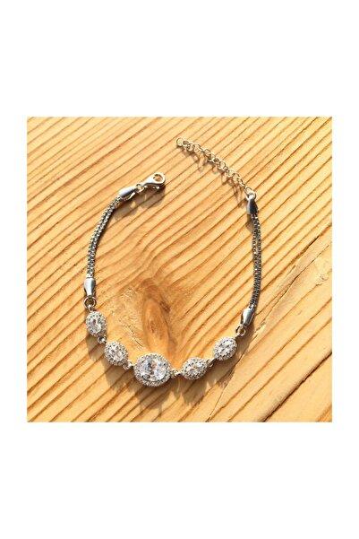 Afrodit Silver 925 Ayar Zirkon Taşlı Kadın Bileklik