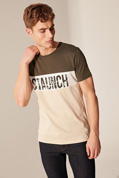 LC Waikiki Erkek Koyu Haki T-shirt 0S9721Z8