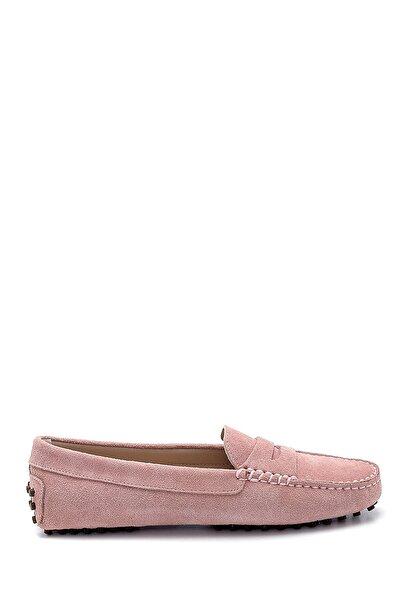 Derimod Kadın Mor Süet Loafer Ayakkabı