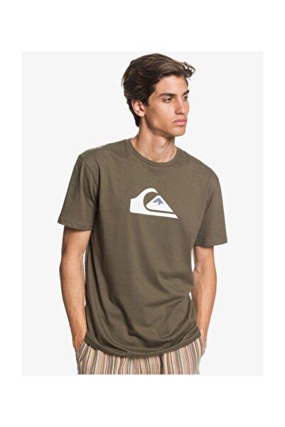 Quiksilver Haki Comp Logo Erkek T-shirt
