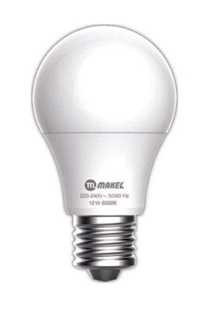 MAKEL 12w Led Ampül E27 Beyaz Işık 6500k