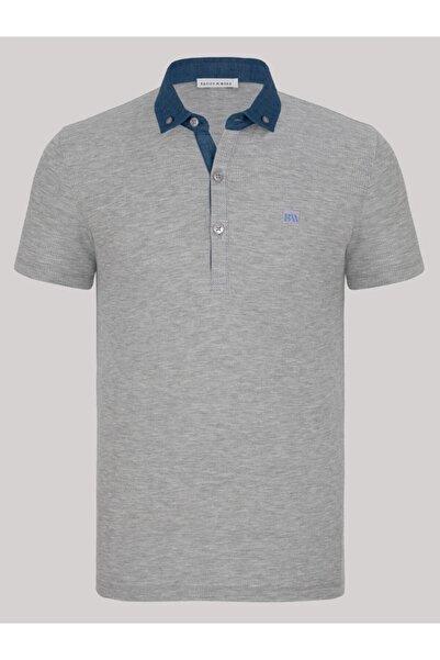 Basics&More Erkek Waffle Polo Yaka T-shirt