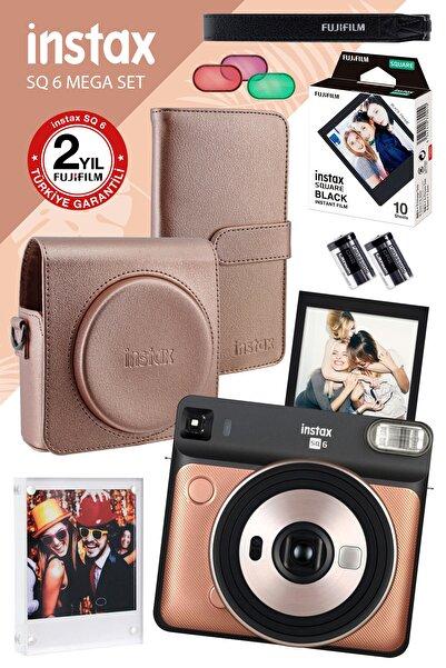 Fujifilm instax SQ 6 Altın-Siyah Fotoğraf Makinesi ve Mega Hediye Seti