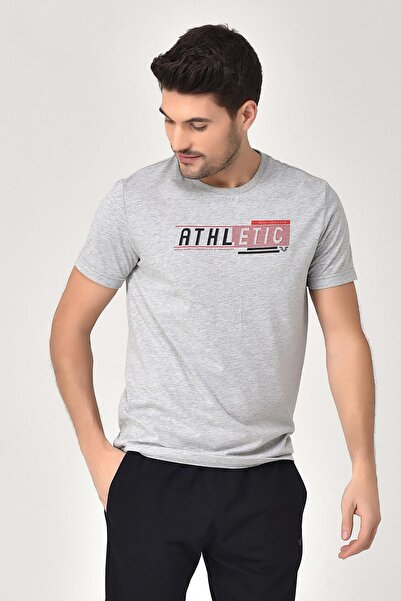 bilcee Gri Erkek T-shirt  GS-8812