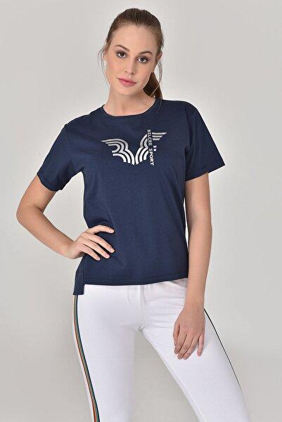bilcee Lacivert Kadın T-Shirt GS-8623
