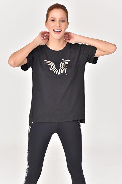 bilcee Siyah Kadın T-Shirt GS-8623