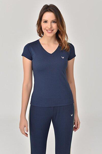 bilcee Lacivert Kadın T-Shirt GS-8087