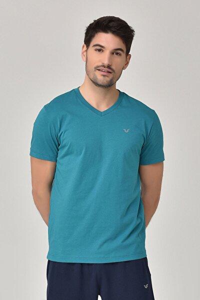 bilcee Mavi Erkek T-Shirt GS-8898