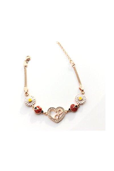 Afrodit Silver 925 Ayar Gümüş Sonsuzluk Papatya Kalp Modeli Bileklik