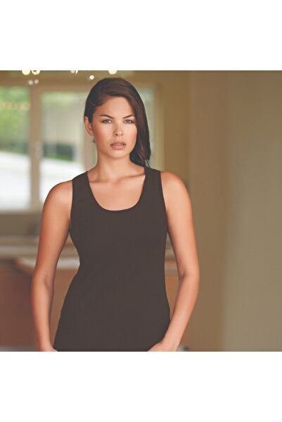 Berrak Kadın Atlet |4 Lü Paket Pamuklu Klasik Kahverengi