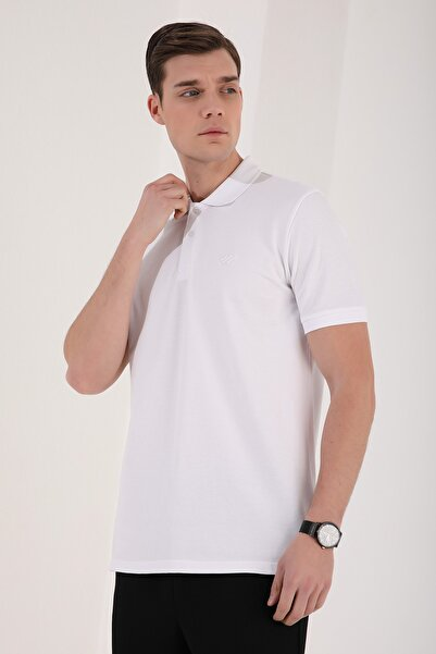 Tommy Life Polo Yaka Beyaz Erkek Tshirt T08ER-87748
