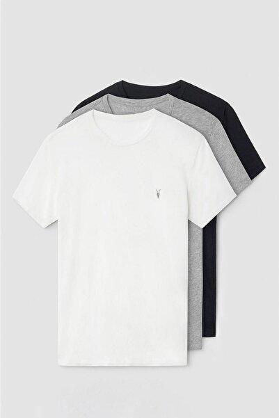 COMBİNE MİCHAİL Erkek Standart Kalıp Basic 3'lü Paket T-shirt 1000