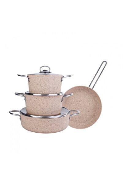 Cookplus Biogranit Panama Kahve 7 Parça Tencere Seti