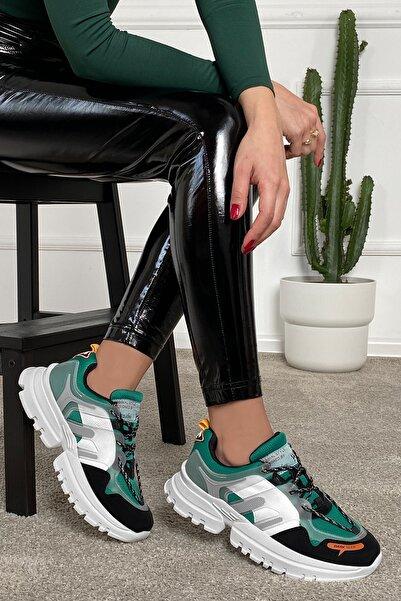 DARK SEER Yeşil Siyah Kadın Sneaker