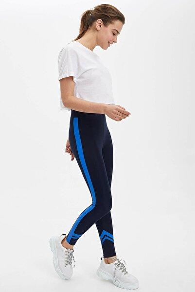 DeFacto Kadın Lacivert Slim Fit Örme Tayt N7914AZ.20SP.NV31