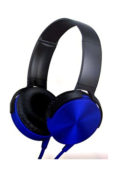 Platoon Extra Bass Kulaklık Yüksek Ses Mikrofonlu Oyuncu Gamer Stereo Mavi