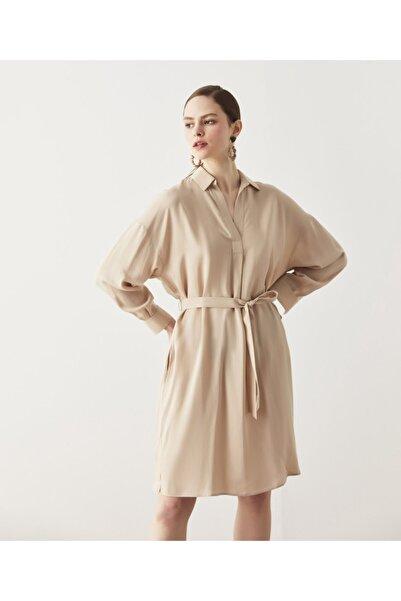 İpekyol Kuşaklı Tencel™ Elbise