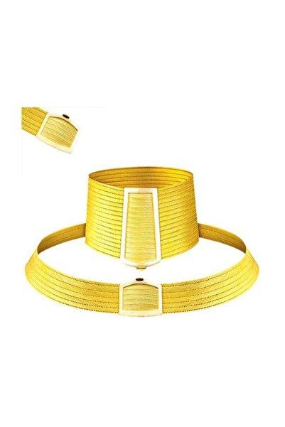 BİLEZİKHANE Trabzon Hasır Düğün Set Taşsız 130,00 Gram 22 Ayar Altın