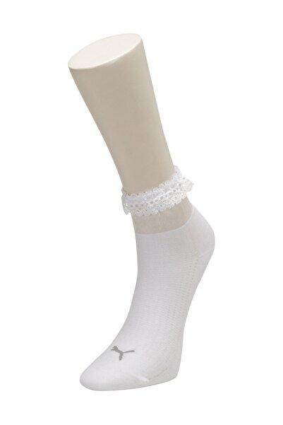 Puma SG RUFFLE SHORT SOCK 1P Beyaz Kadın Çorap 100568979