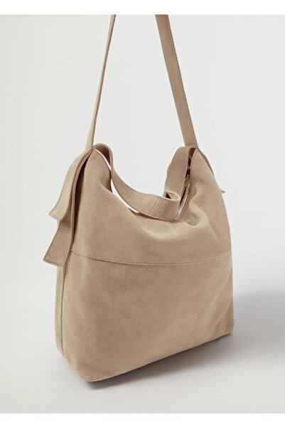 MANGO Woman Deri Bucket Çanta