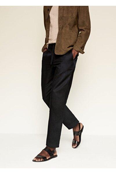 MANGO Man Erkek Keten Pantolon