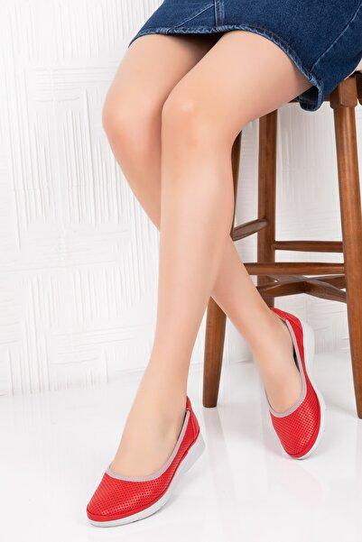 Gondol Kadın Hakiki Deri Ortopedik Taban Günlük Ayakkabı