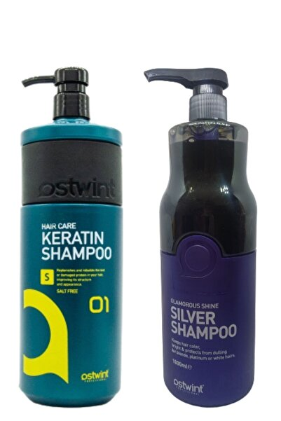 Ostwint Keratin Bak.tuzsuz Sülfatsız Keratinli Saç Bak.şamp.1000ml& Silver Mor Şampuan 1000 Ml