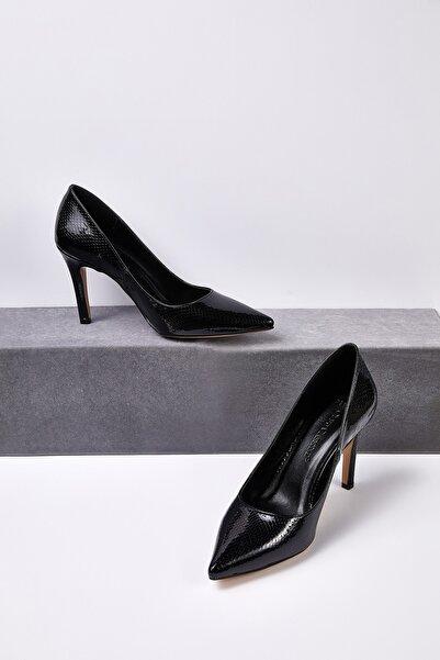Oleg Cassini Kadın Siyah Klasik Topuklu Abiye Ayakkabısı JULIA