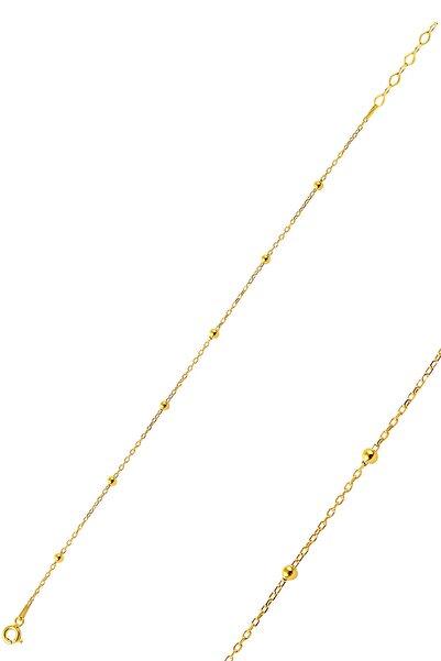Söğütlü Silver Kadın Gümüş Altın Rengi Top Top Bileklik SGTL9670GOLD