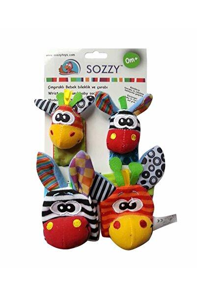 Sozzy Toys Çıngıraklı Bebek Bileklik Ve Çorabı /