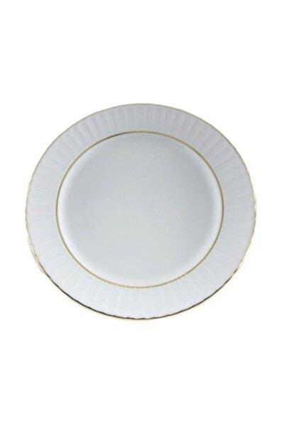 Güral Porselen Yaldızlı Çukur Yemek Tabağı 17 Cm 12 Adet