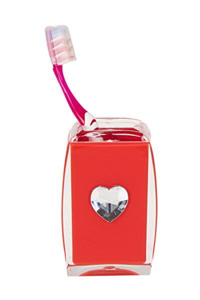Bosphorus Diş Fırçalık Kırmızı Kalpli Banyo Aksesuarı