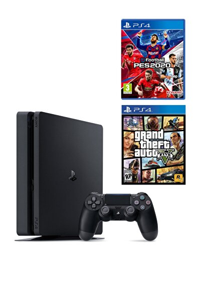 Sony Playstation 4 Slim 500 GB + PS4 Pes 2020 + PS4 GTA 5