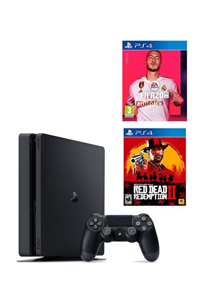 Sony Playstation 4 Slim 1 TB + PS4 Fifa 20 + Red Dead Redemption 2