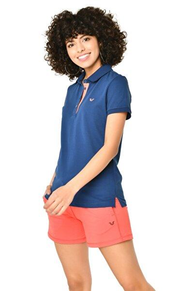 bilcee Kadın K.mavi Polo Yaka T-shırt Hs-8719