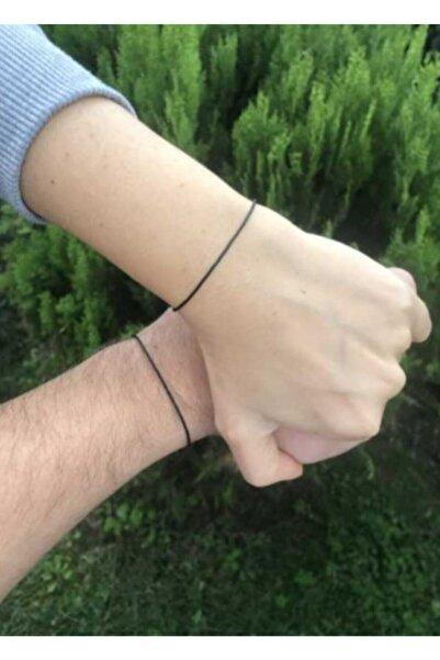 Lade Black String Siyah Ip Çift Bileklik
