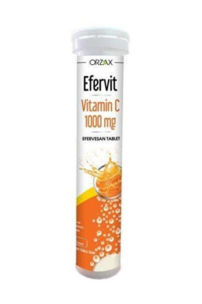 Orzax Efervit Vitamin C 1000 Mg Efervesan Suda Eriyen 20 Tablet