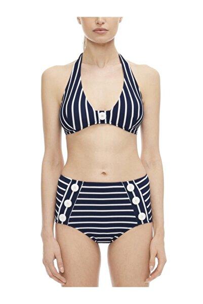 HAREM SUARE Arles Lacivert/beyaz Çizgili Üçgen Bikini Takım