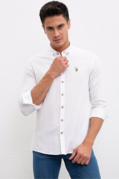 U.S. Polo Assn. Beyaz Erkek Gömlek