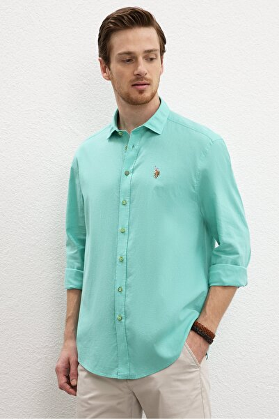 U.S. Polo Assn. Yesıl Erkek Gömlek