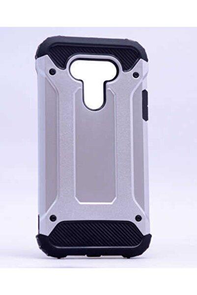 İncisoft Lg G5 Kılıf Çift Katmanlı Ultra Koruma Zırh Tasarım Kapak Gümüş