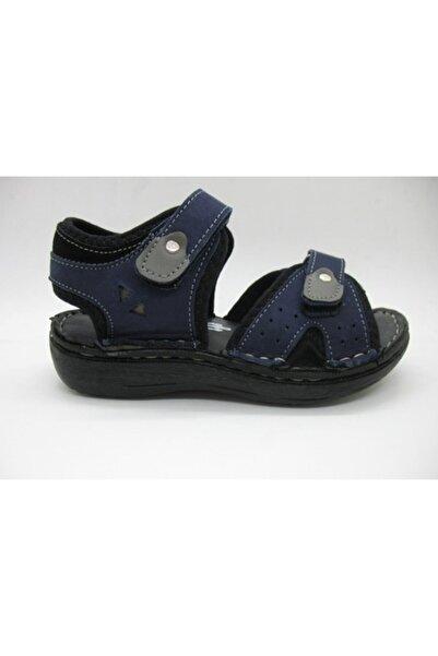 Toddler Erkek Çocuk Lacivert Doğal Deri Spor Sandalet 26-30 01314
