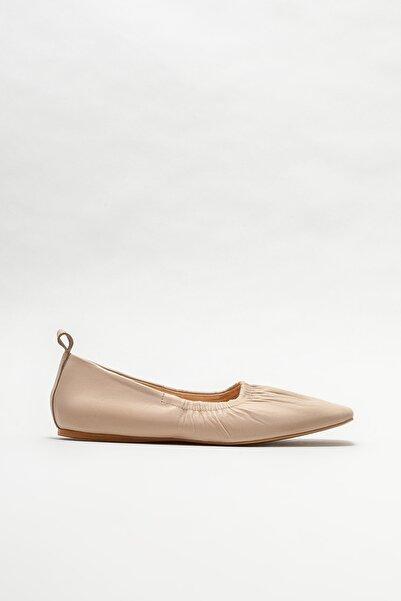 Elle Shoes Kadın Naturel Deri Babet