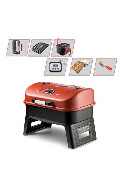 Guruss Go&grill Kırmızı Kömürlü Bbq Mangal Gurme Seti Et Termometreli