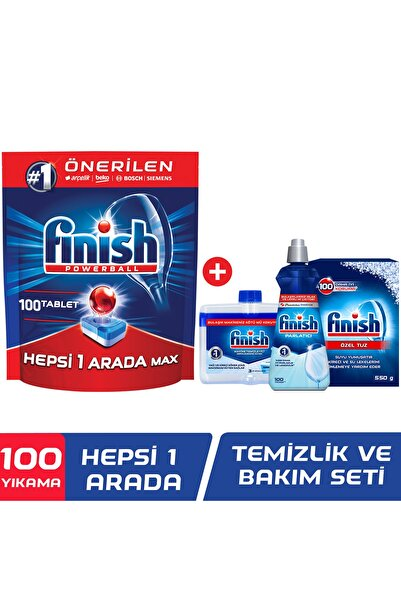 Finish Hepsi Bir Arada 100 Tablet + Temizlik Bakım Seti