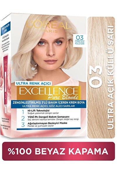 L'Oreal Paris Excellence Creme Saç Boyası - 03 Ultra Açık Küllü Sarı