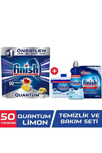 Finish Quantum 50 Tablet Bulaşık Makinesi Deterjanı Limon + Temizlik Ve Bakım Seti