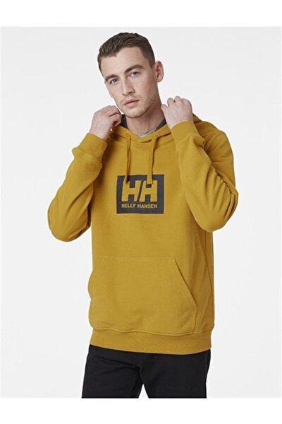 Helly Hansen Erkek Sarı Kapüşonlu Sweatshirt