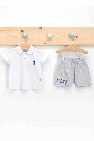 U.S. Polo Assn. U.s. Polo Assn 2 Li Şortlu Takım Erkek Bebek Beyaz