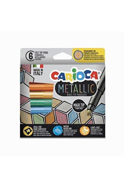 CARIOCA 6 Renk Maxi Tip Metalik Keçeli Kalem Seti
